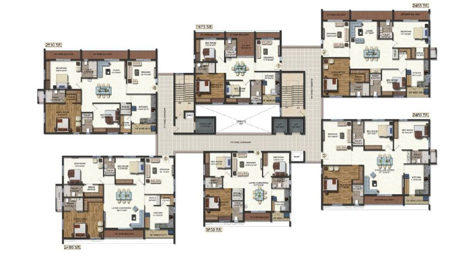 3 Bhk Apartments in Vijyawada - VERTEX PALACIA