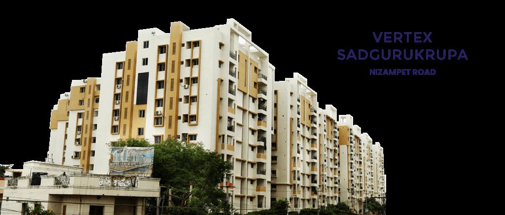 2 & 3 Bhk Apartments for Sale in Kukatpally, Nizampet- Vertex Sadgurukrupa