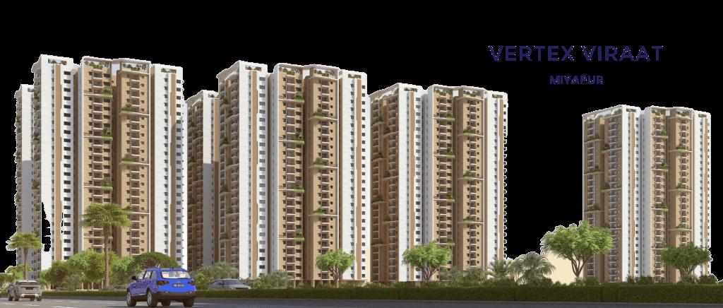 2 and 3 BHK Apartments in Miyapur - VERTEX VIRAAT